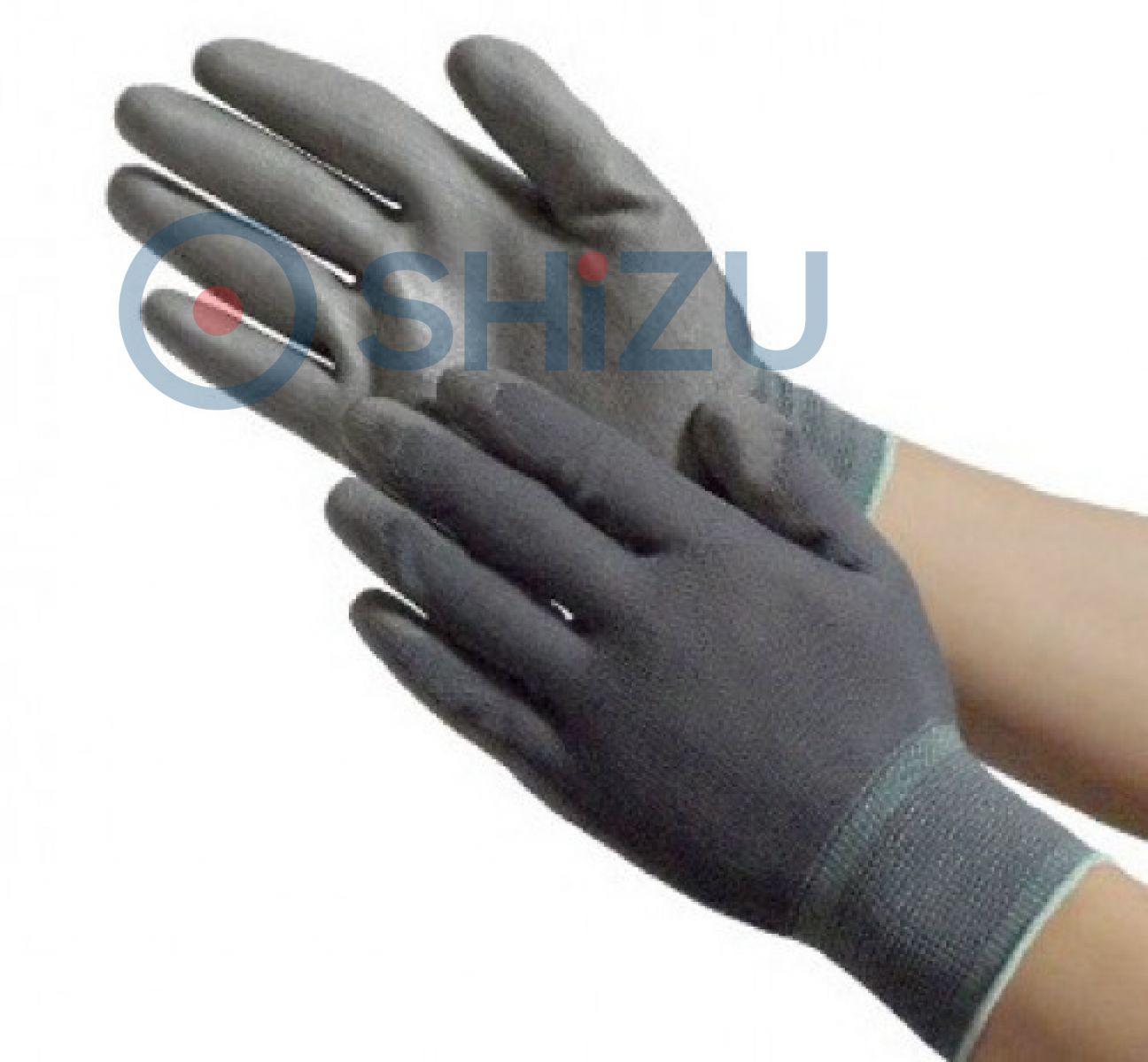 Găng tay phủ PU lòng bàn tay màu xám